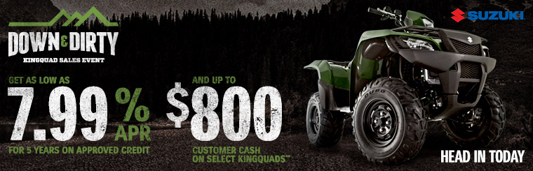 Down & Dirty KingQuad Sales Event (7.99%)