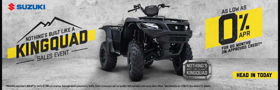 Nothing's Built Like A KingQuad Sales Event
