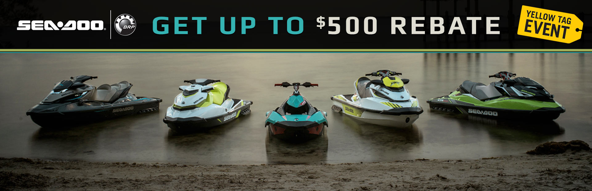 Sea-Doo: Get Up To $500 Rebate