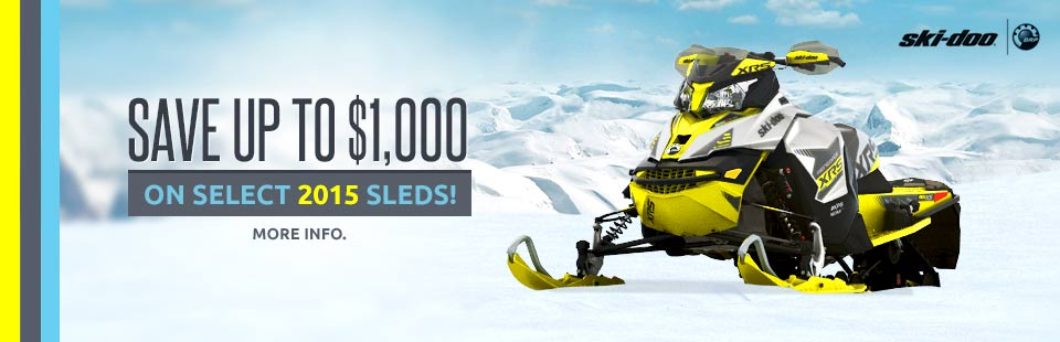 Save up to $1,000 On Select 2015 Sleds!