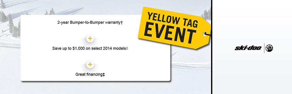 Ski Doo Yellow Tag Event