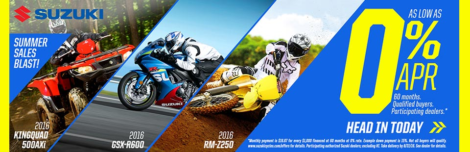 Suzuki Summer Sales Blast!