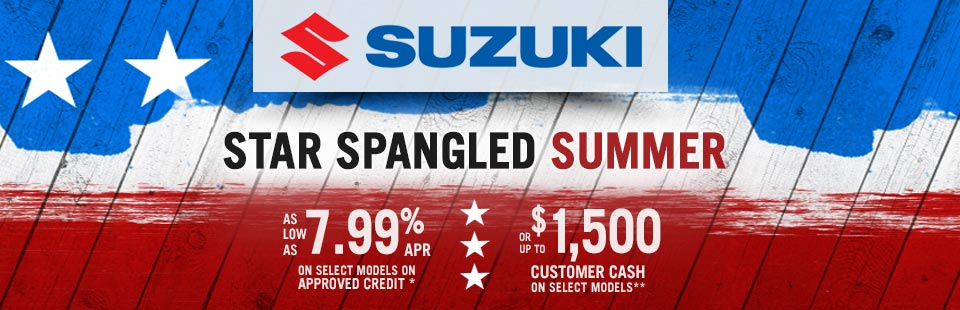 Star Spangled Summer (Customer Cash and 7.99% APR)