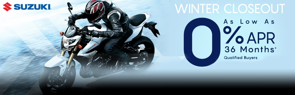 Suzuki: Winter Closeout Sales Event