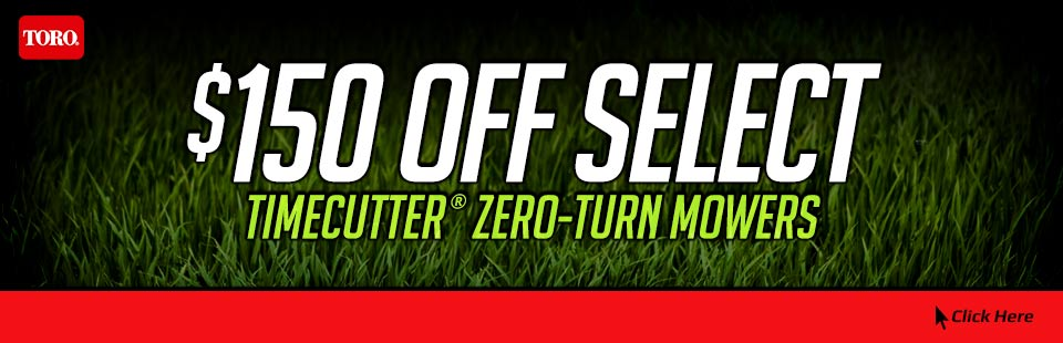 $150 OFF Select TimeCutter® Zero-Turn Mowers