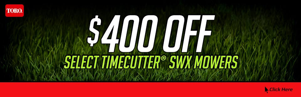 $400 OFF Select TimeCutter® SWX Mowers