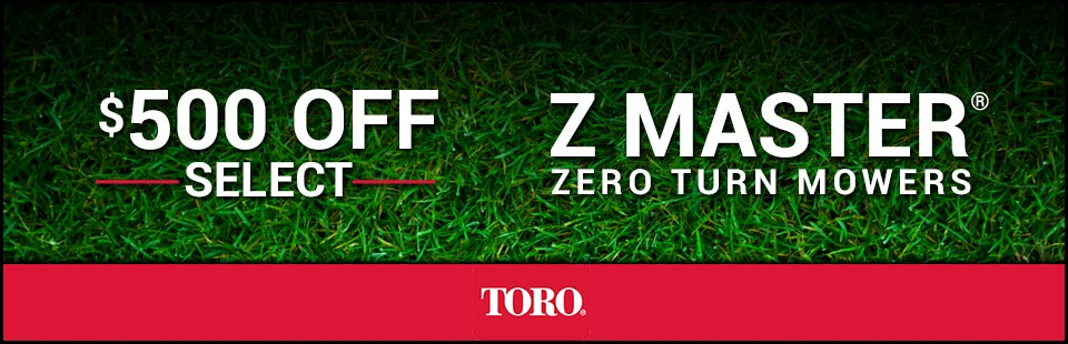 $500 Off Select Z Master® 2000/3000 Series Mowers