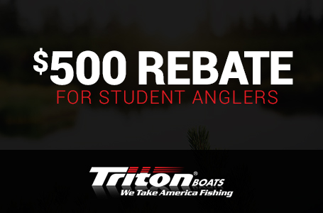 $500 Rebate For Student Anglers