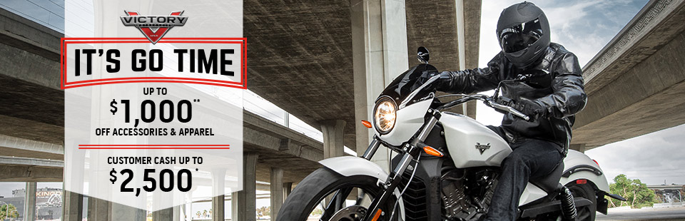 Victory Motorcycles: It's Go Time Sales Event