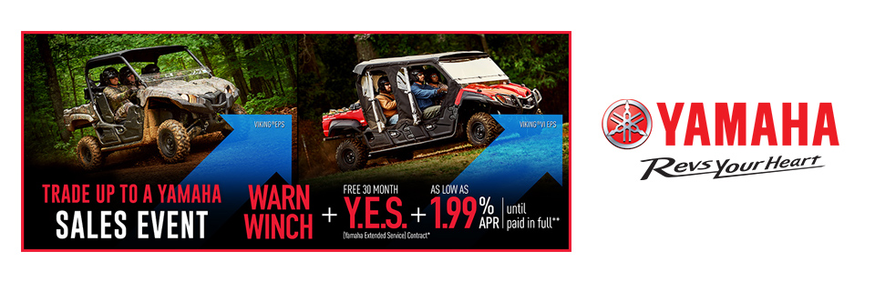 Yamaha: As Low As 1.99% APR Until Paid In Full (Util SxS)