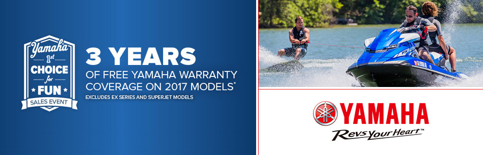 Yamaha: 3 years of free Yamaha Warranty on 2017 models