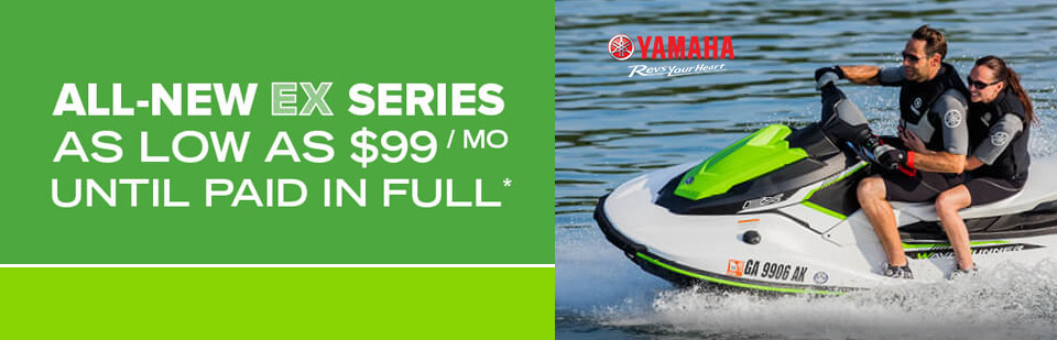 Yamaha: All-New Ex Series As Low As $99/Month Until Paid*