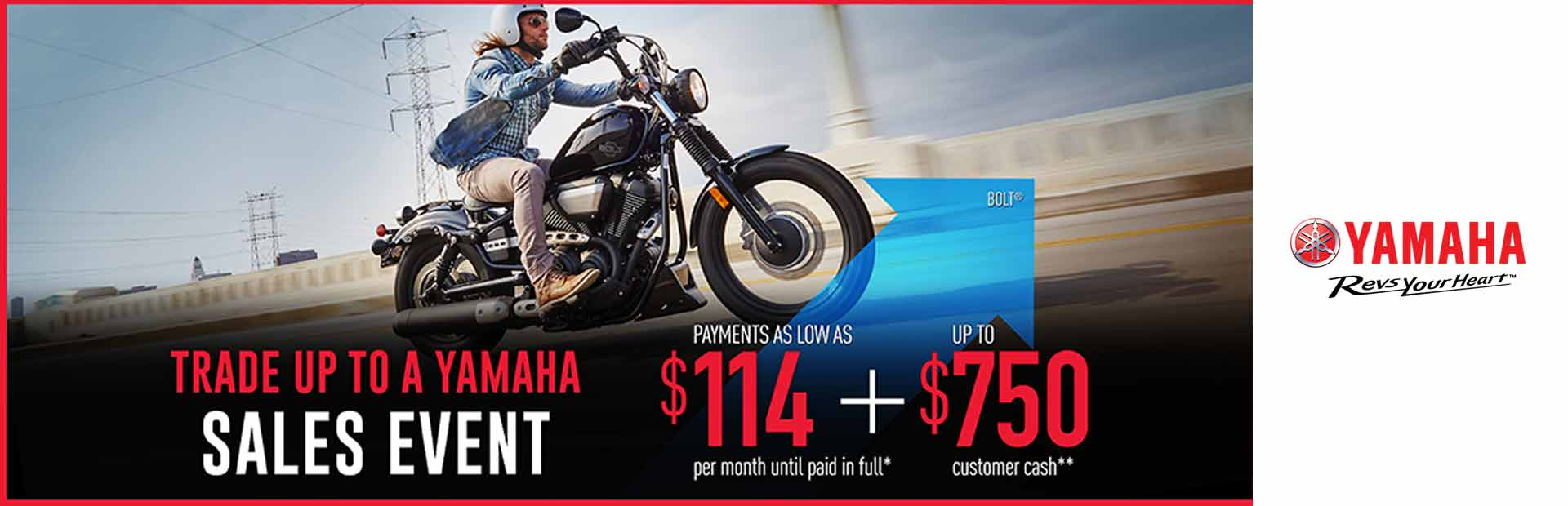Yamaha: As Low As $114 + Up To $750 Customer Cash**