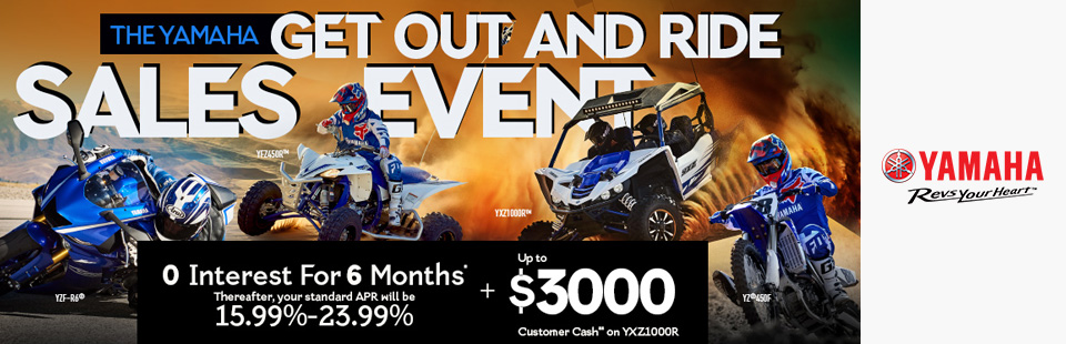 Yamaha: 0 Interest For 6 Months+ Up To $3000 Customer Cash