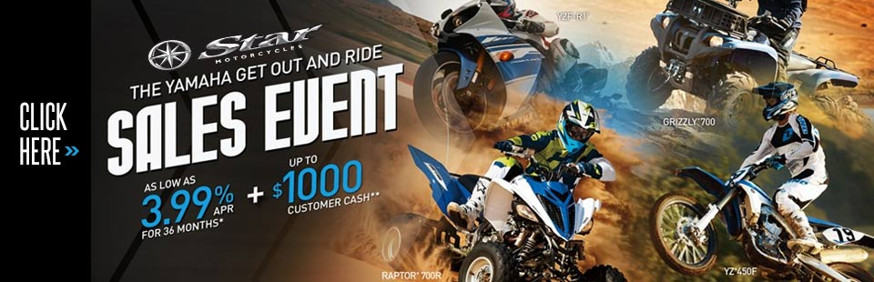 Get Out and Ride Sales Event -Sport Motorcycle/ATV
