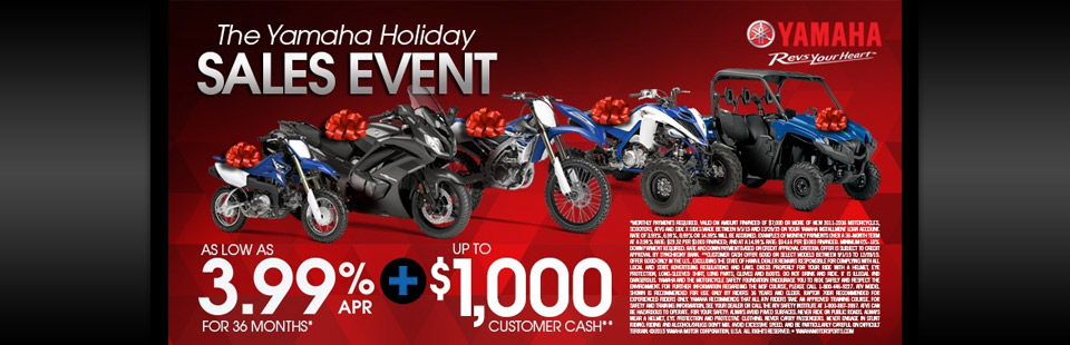 The Yamaha Holiday Sales Event
