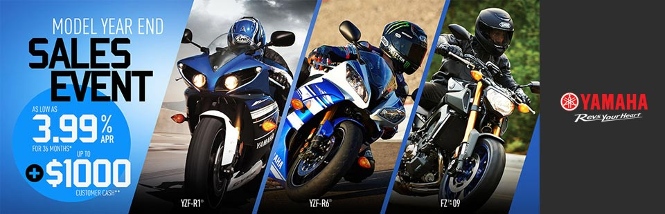 Model Year End Sales Event (Sport Motorcycle)