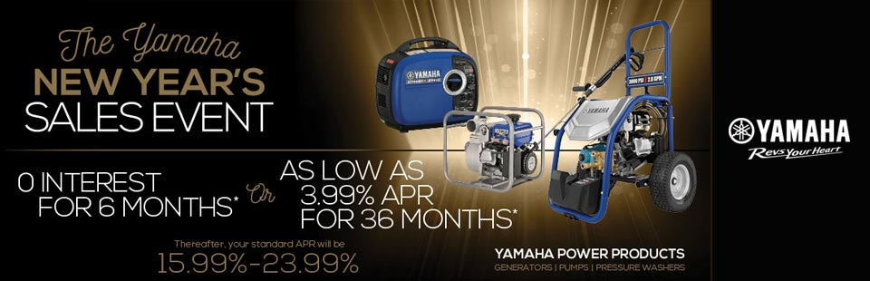 Yamaha: New Year's Sales Event (Power Products)