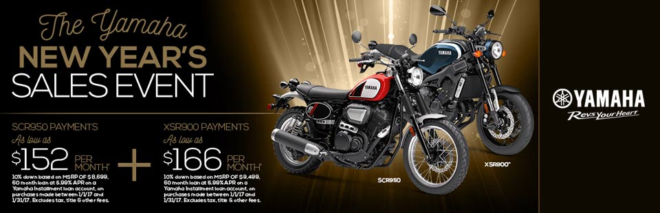 New Year's Sales Event (Street Motorcycle)