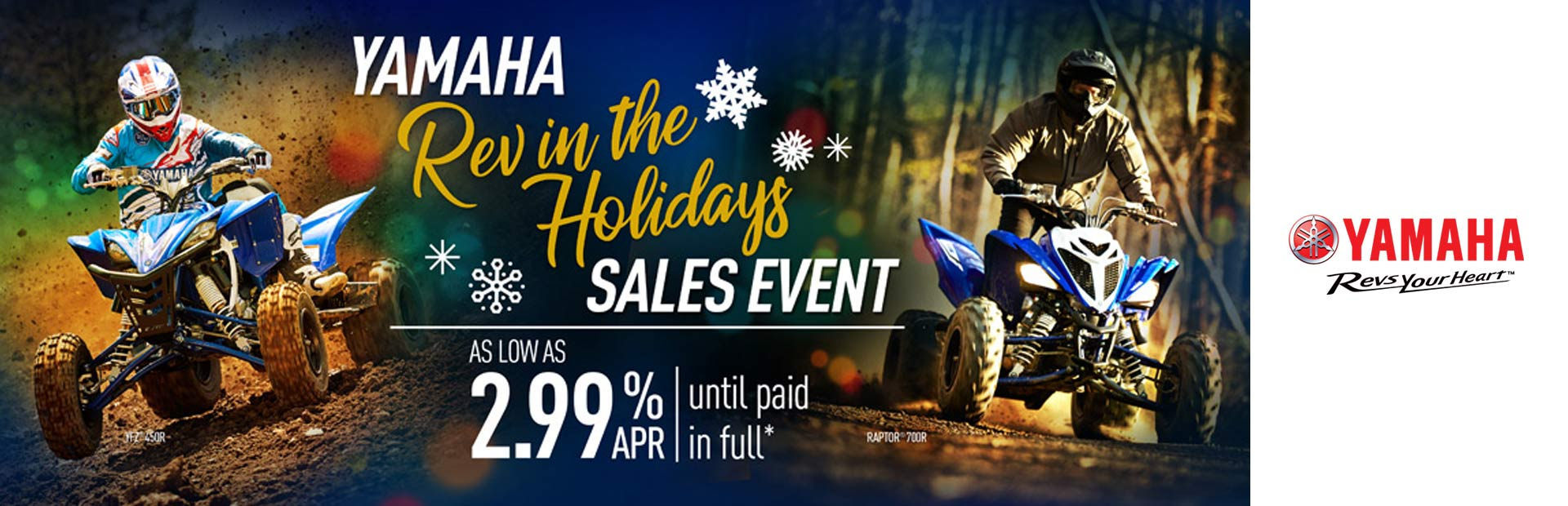 Yamaha: Rev in the Holidays Sales Event (Sport ATV)