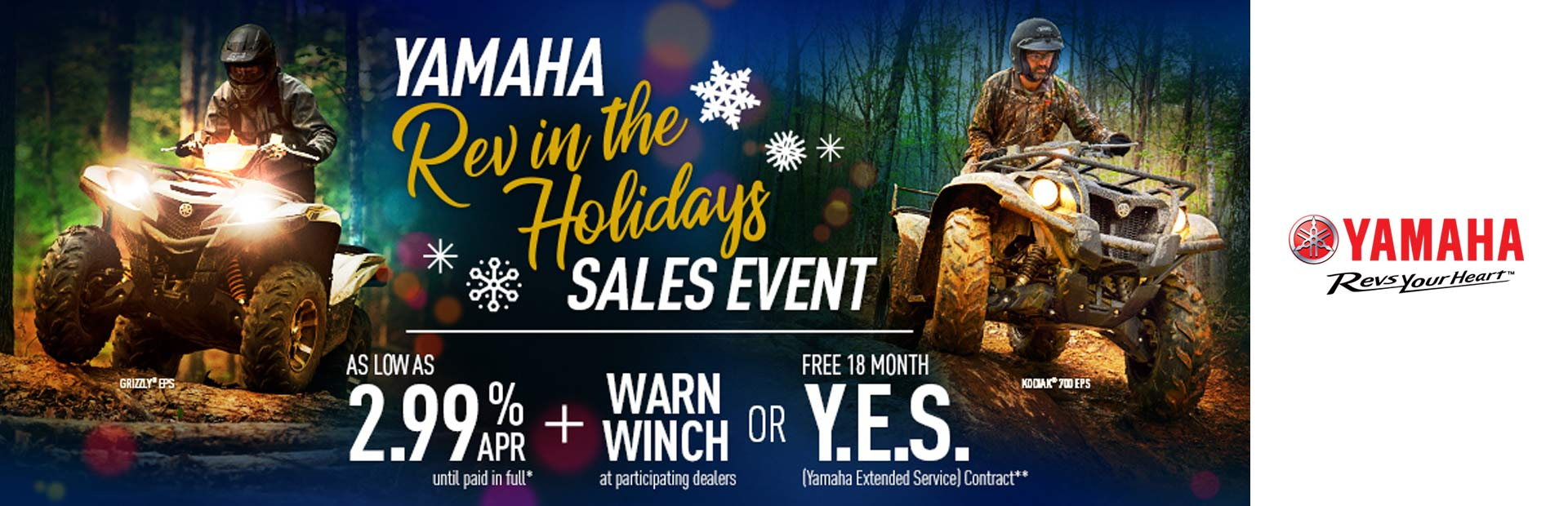 Yamaha: Rev in the Holidays Sales Event (Utility ATV)