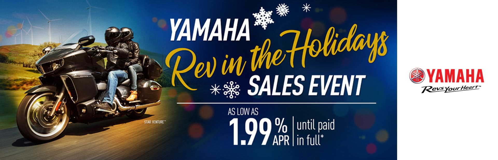 Yamaha: Rev in the Holidays Sales Event (Touring)