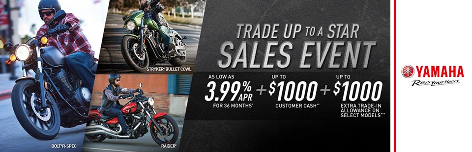 Trade Up to a Star Sales Event