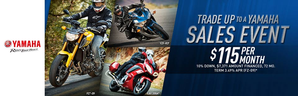 Trade Up to a Yamaha - Sport Motorcycles
