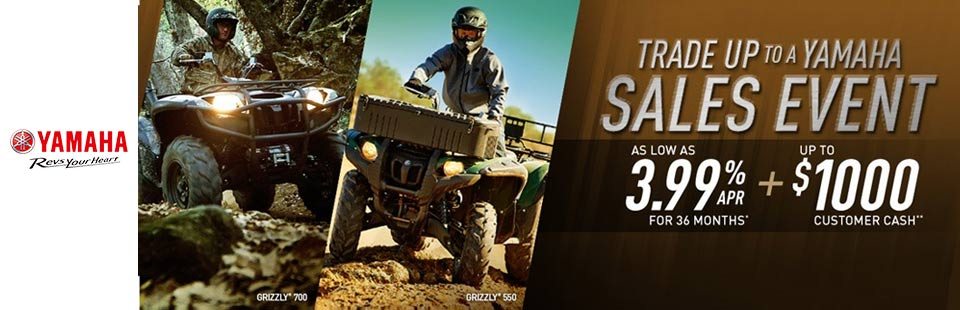Trade Up to a Yamaha - Utility ATVs