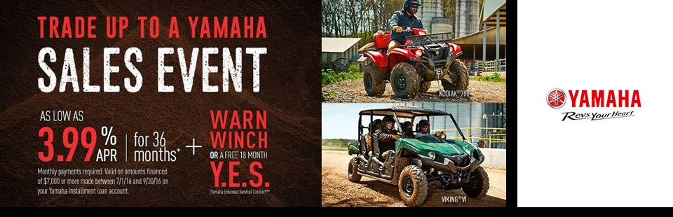 Trade Up to a Yamaha Sales Event (Utility SxS)