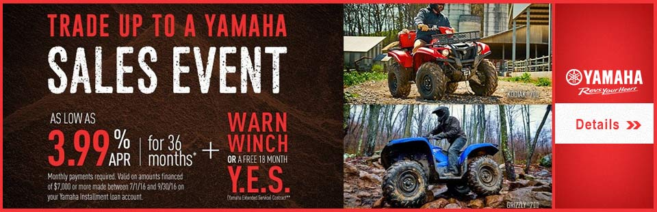 Trade Up to a Yamaha Sales Event (Utility ATV)