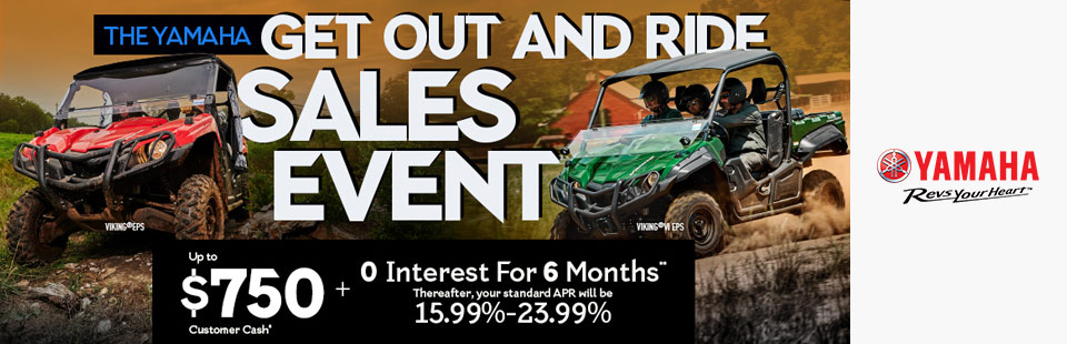 Yamaha: Up To $750 Customer Cash + 0 Interest For 6 Months