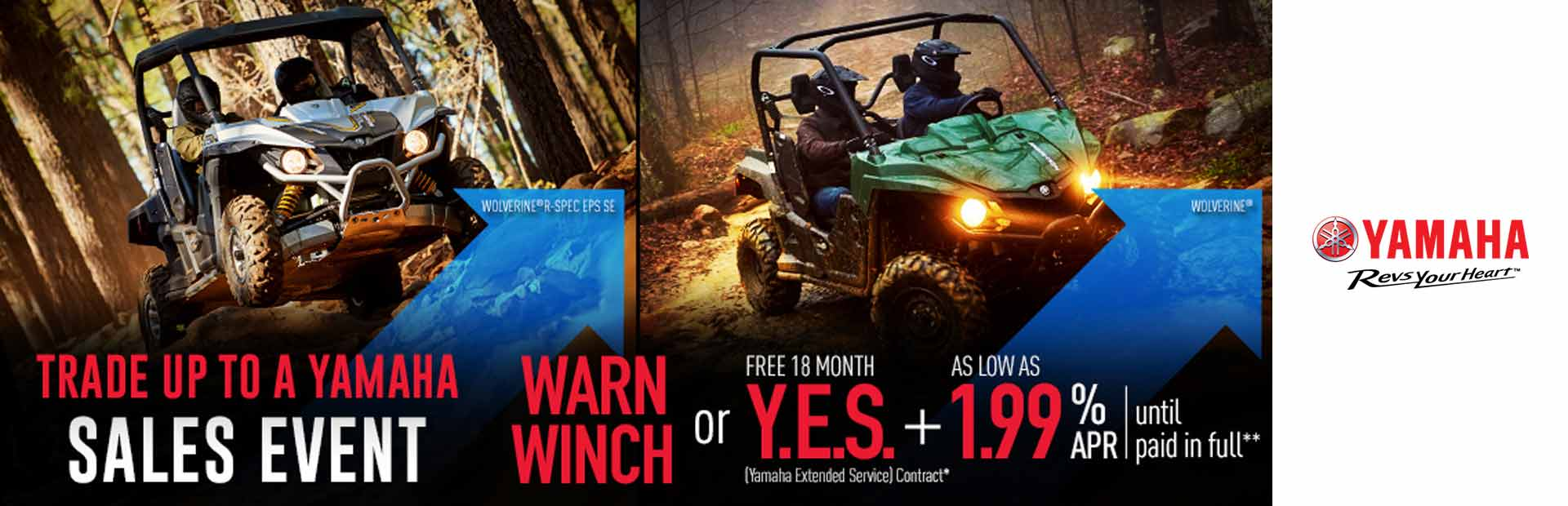 Yamaha: Warn Winch or Y.E.S. + As Low As 1.99% APR