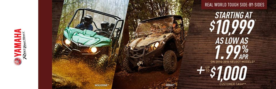 Yamaha Wolverine and Viking Offers and Financing
