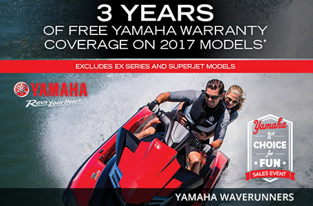 3 Years Of Free Yamaha Warranty Coverage