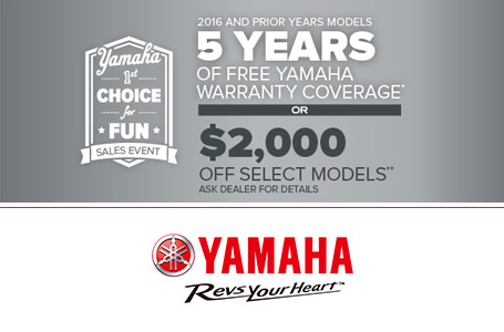5 years of warranty or $2000 off select models