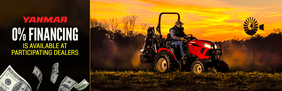 Yanmar USA: 0% Financing Is Available At Participating Dealers