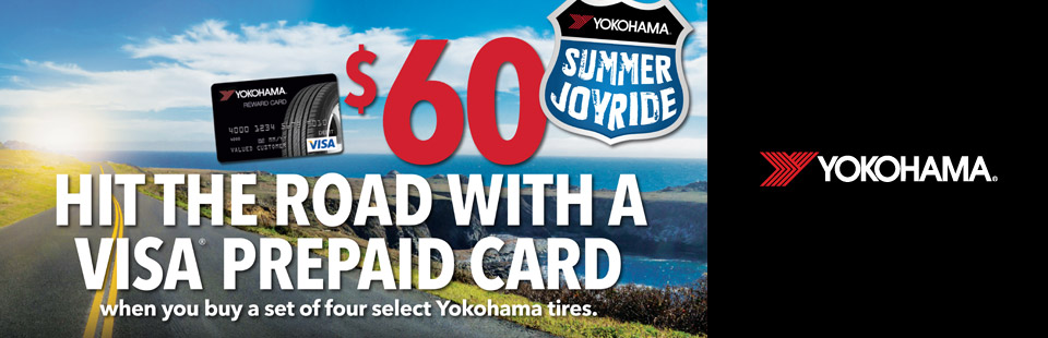 Yokohama - Hit the Road With a $60 Visa Prepaid Card - stop in at The Quiet Zone in Milwaukee, WI today