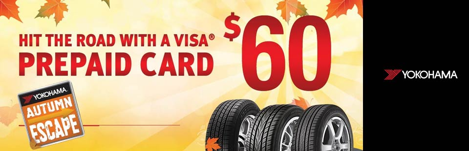 Hit the road with a $60 Visa® Prepaid Card