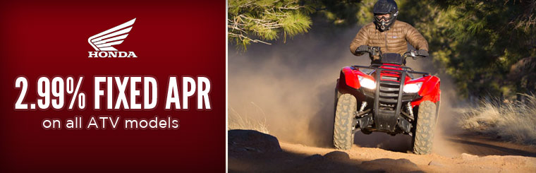2.99% Fixed APR on all ATV models