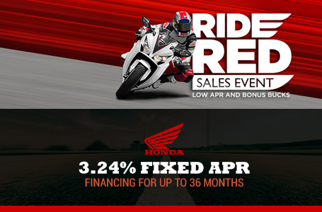 3.24% Fixed APR Cruisers & Touring Models