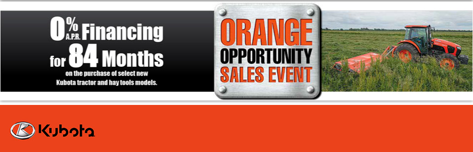 Kubota: 0% APR Financing for 84 Months