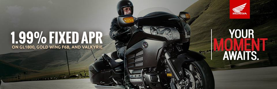 1.99% Fixed APR (GL1800, Gold Wing F6B & Valkyrie)