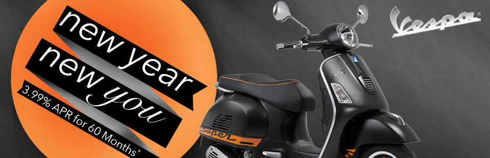 New Year, New You and a New Vespa.