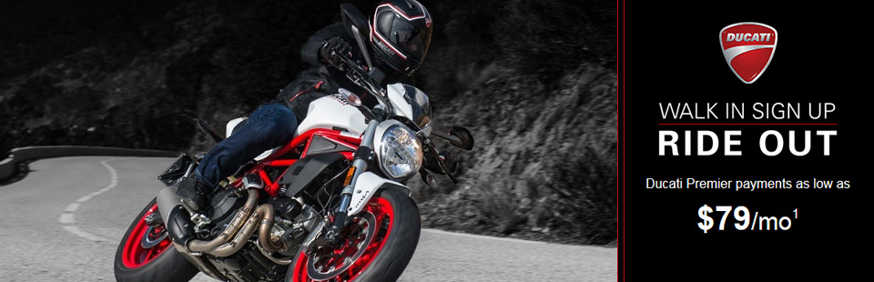 Ride Out with Special Offers from Ducati