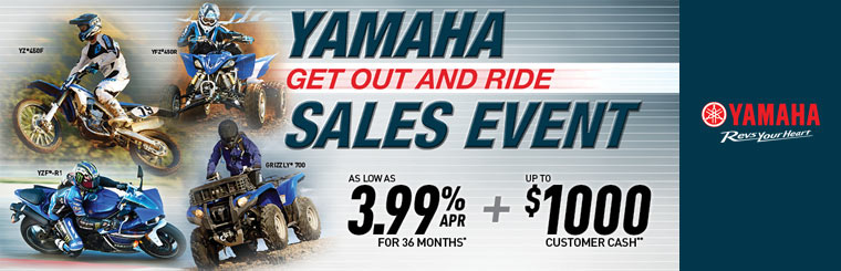 Get Out and Ride Sales Event - ATVs & Side x Sides