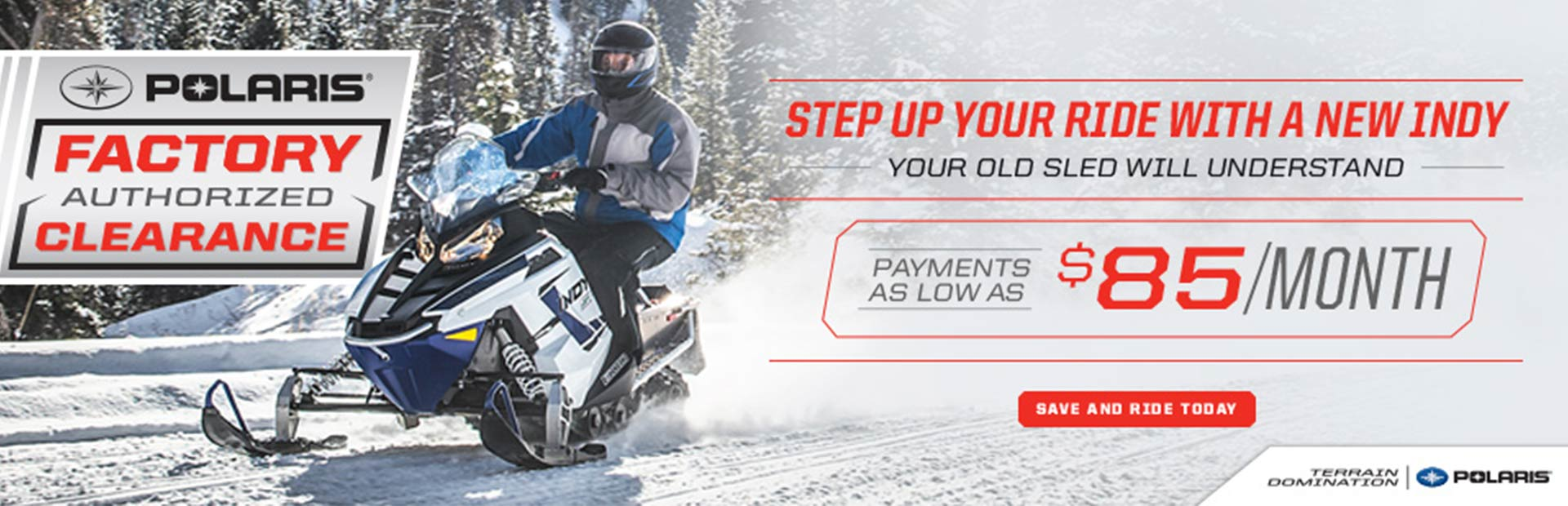 Polaris Factory Authorized Clearance (Snow)
