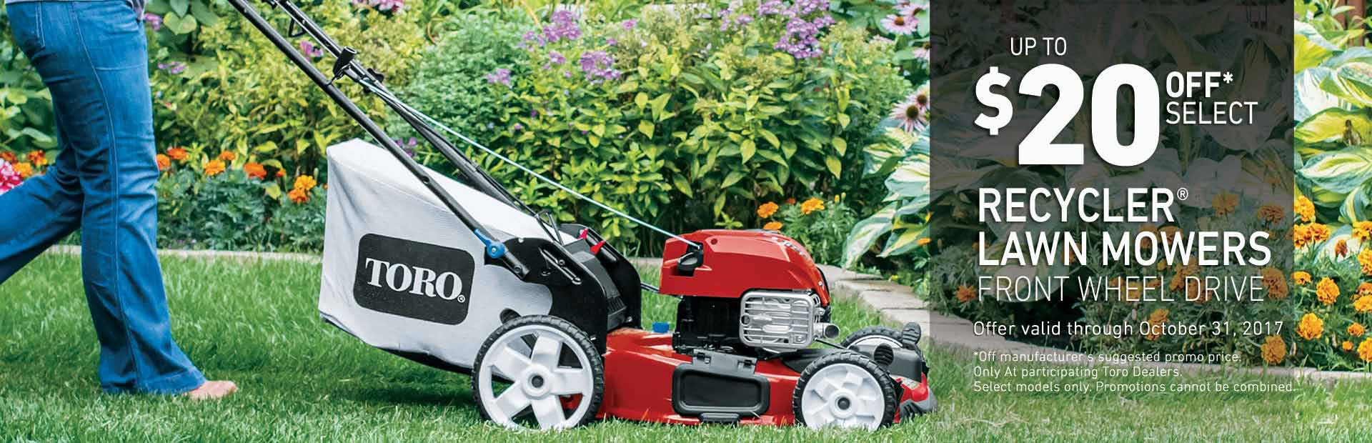 Toro: $20 Off Select Recycler FWD High Wheel Mowers