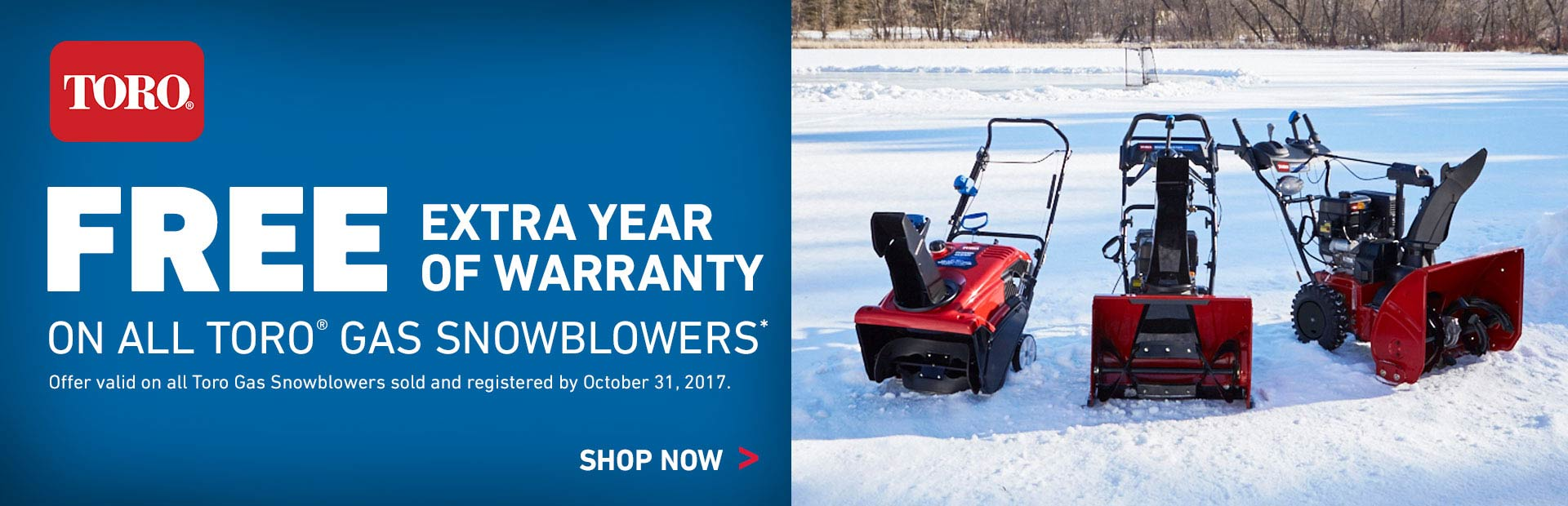 Toro: FREE Extra Year of Warranty