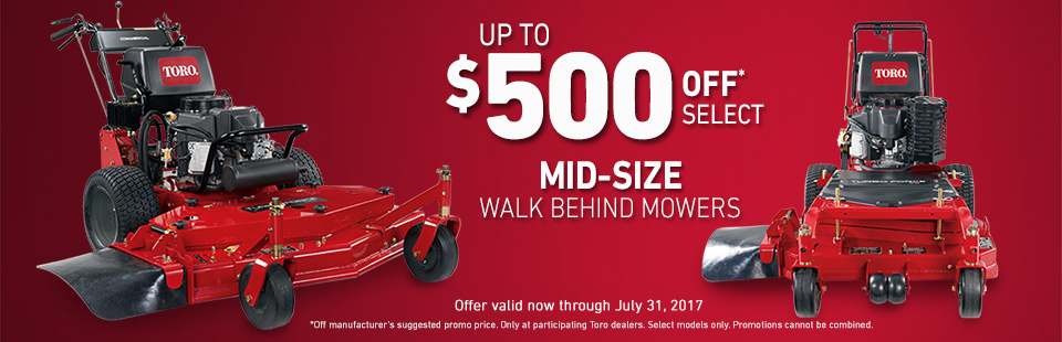 Toro: $500 Off* Select Mid-Size Hydro Drive Mowers